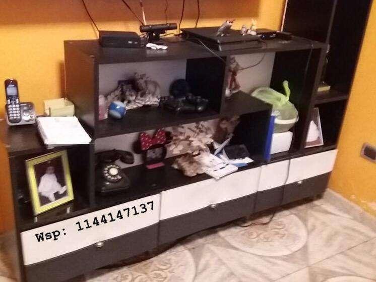 Mueble Modular Rack Tv Cubo - 3 Cajones