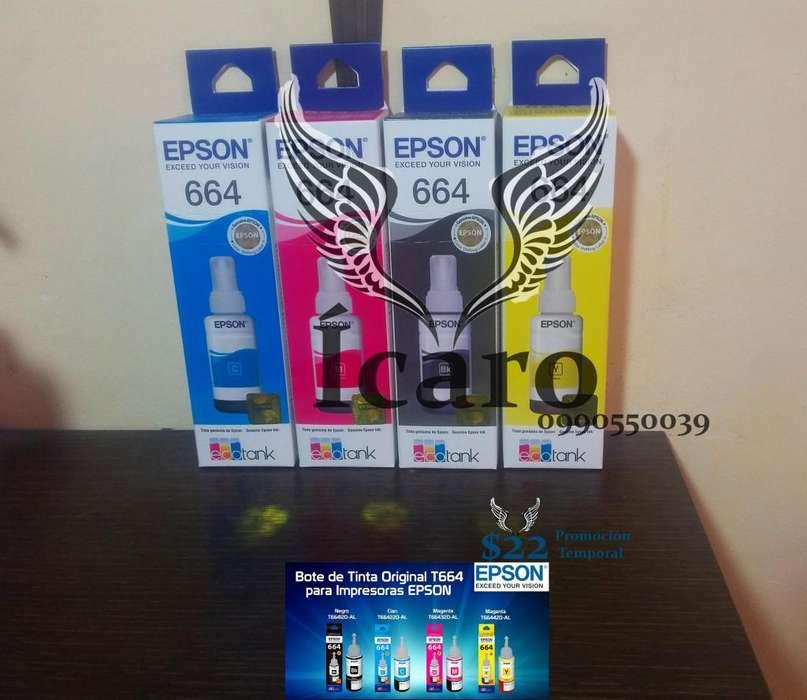 Tintas Originales Epson 664 Ecotank Juego de 4 Colores 22 remate