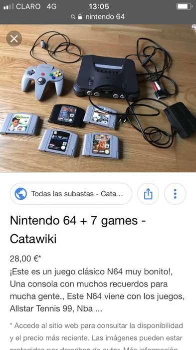 Vendo Nintendo 64 tlfno 0987824897