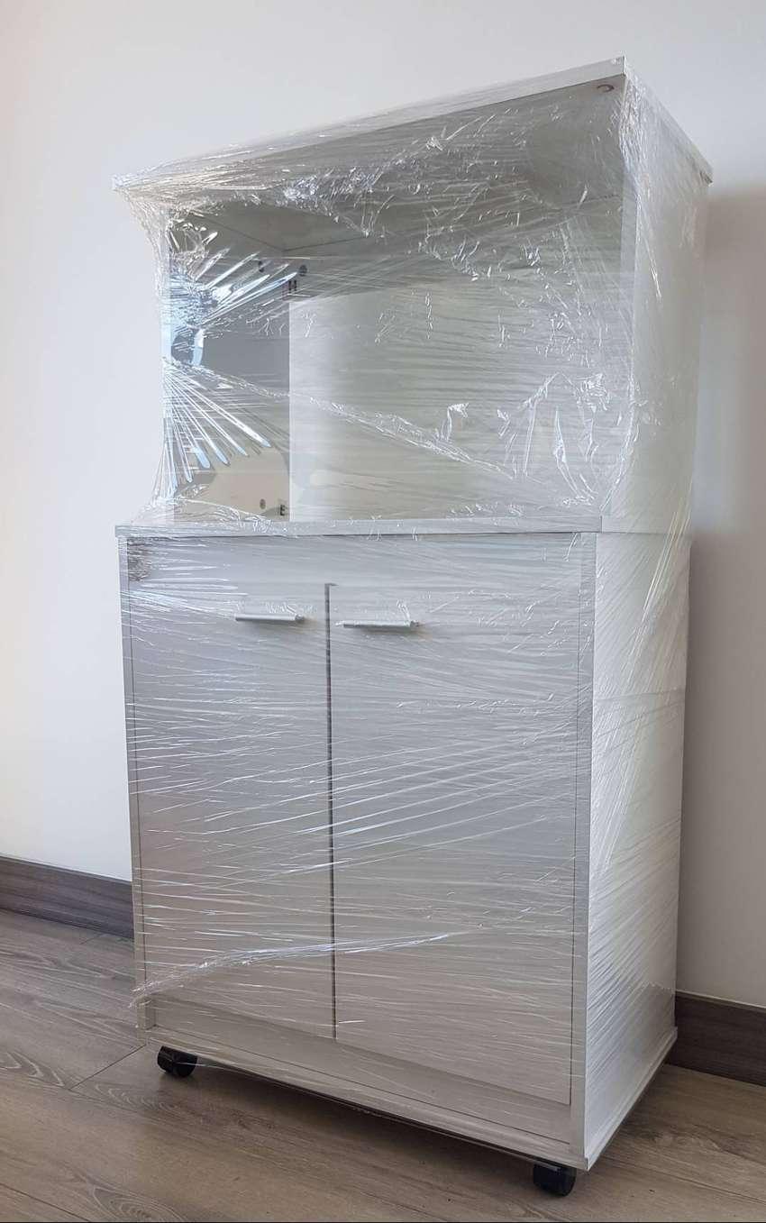 Mueble Cocina: módulo para microondas color blanco - Muebles ...
