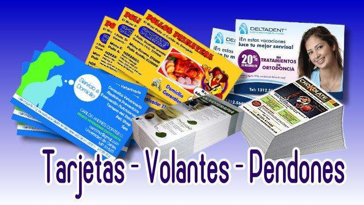 PENDONES TARJETAS VOLANTES EN OFERTA