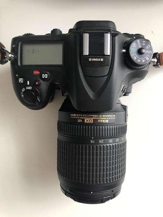 En venta Camara Nikn D7100 mas lente