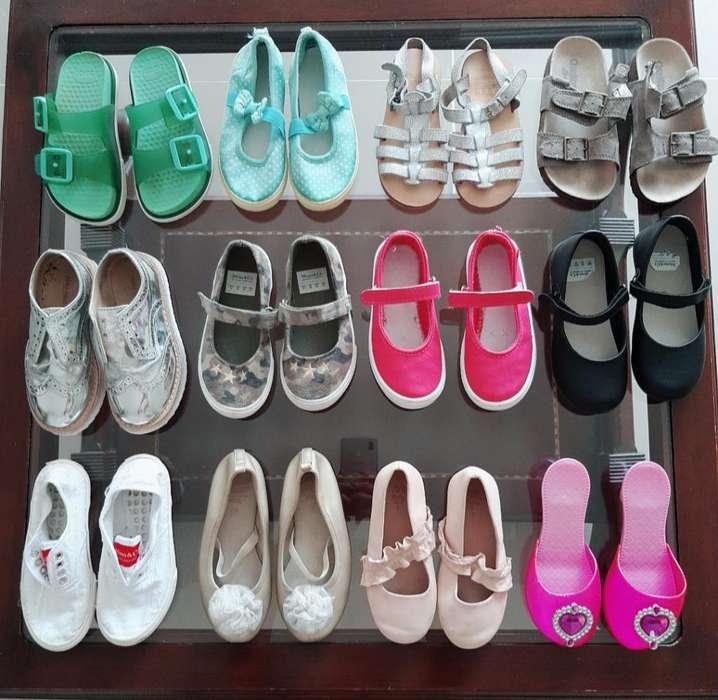Zapatos para Niña Usados en Perfecto Est