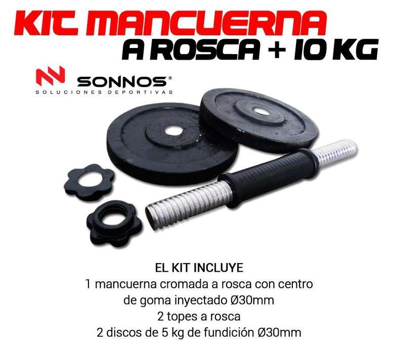 Kit Mancuerna Discos de Fundición 10 kg