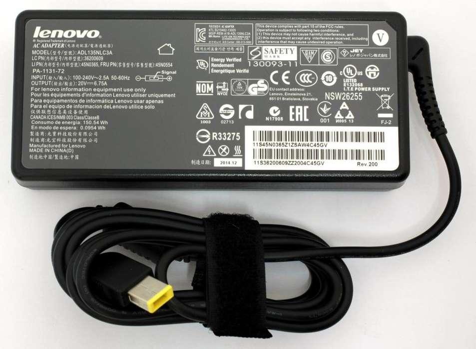 Cargador Ultrabook 20v 3.25a Square Tip Lenovo Original