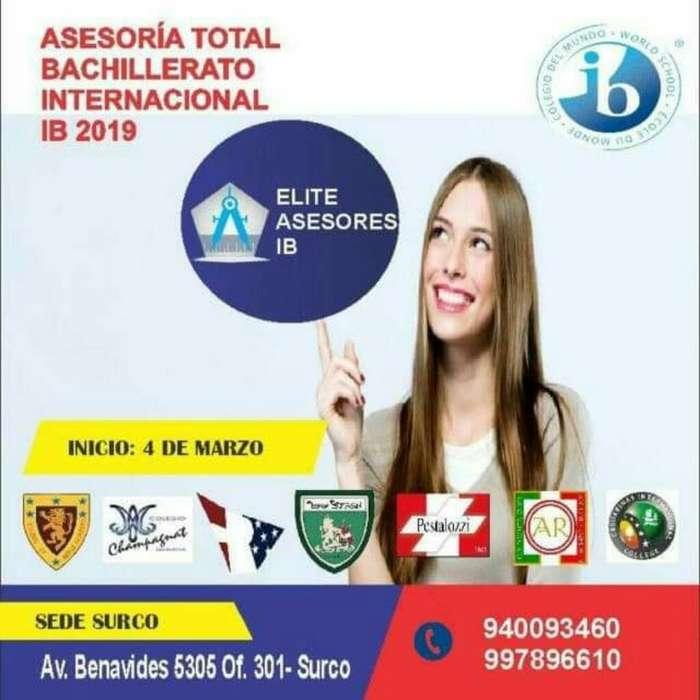Asesoria Bachillerato Internacional Ib