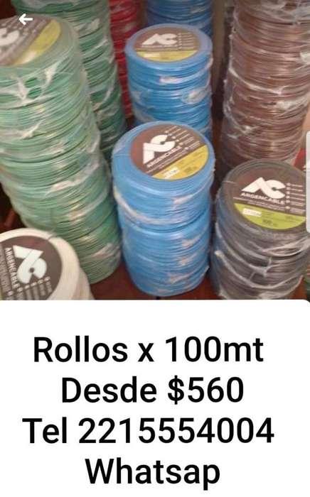 Rollos de Cable Unipolar X 100mt