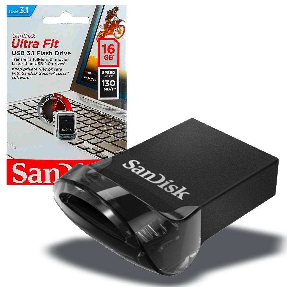 Memoria USB Sandisk Ultra Fit 16gb