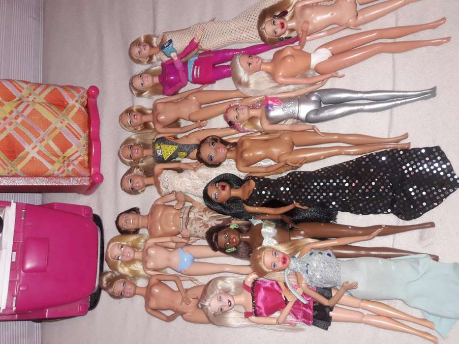 15 Barbies Un Ken Carro Mas Cama