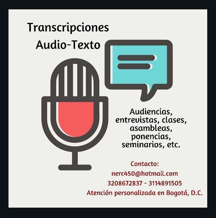 Transcripciones / Audio-Texto