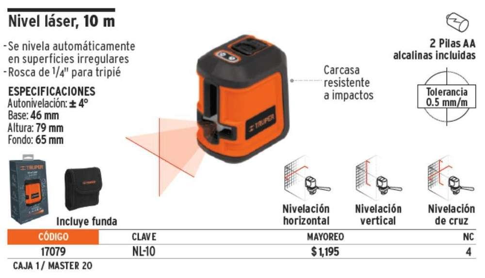 Nivel Laser Nl-10 Truper