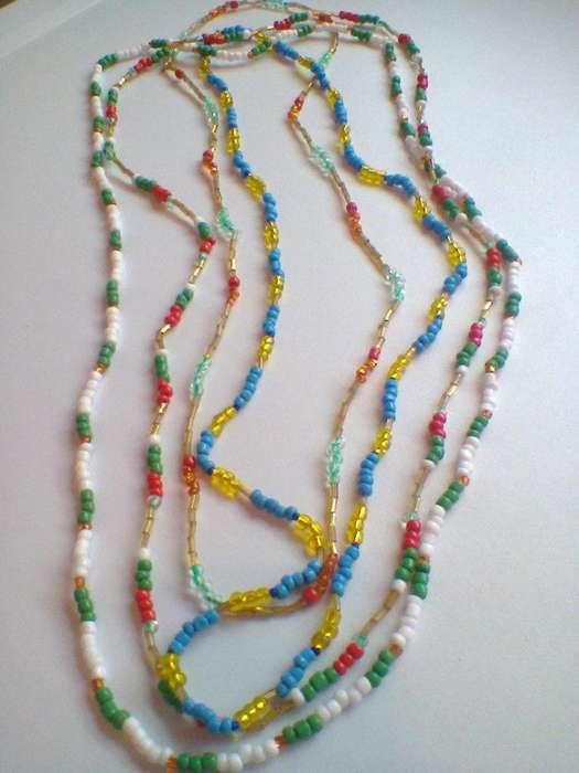 Collares de MostacillasVintage-Lote x 4 !!!