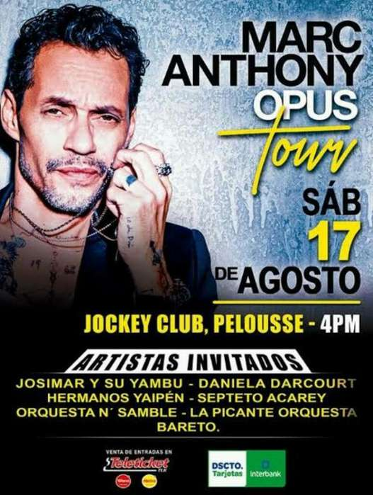 Marc Anthony Opus Tours