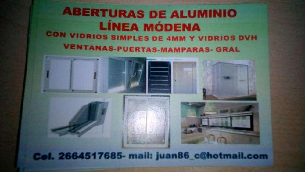 ABERTURAS DE ALUMINIO LINEA MODENA-2664517685