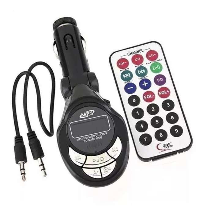 Transmisor Fm para Auto Reproductor Usb