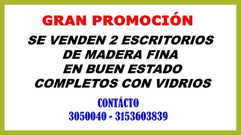 PROMOCION DOS <strong>escritorio</strong>S DE MADERA