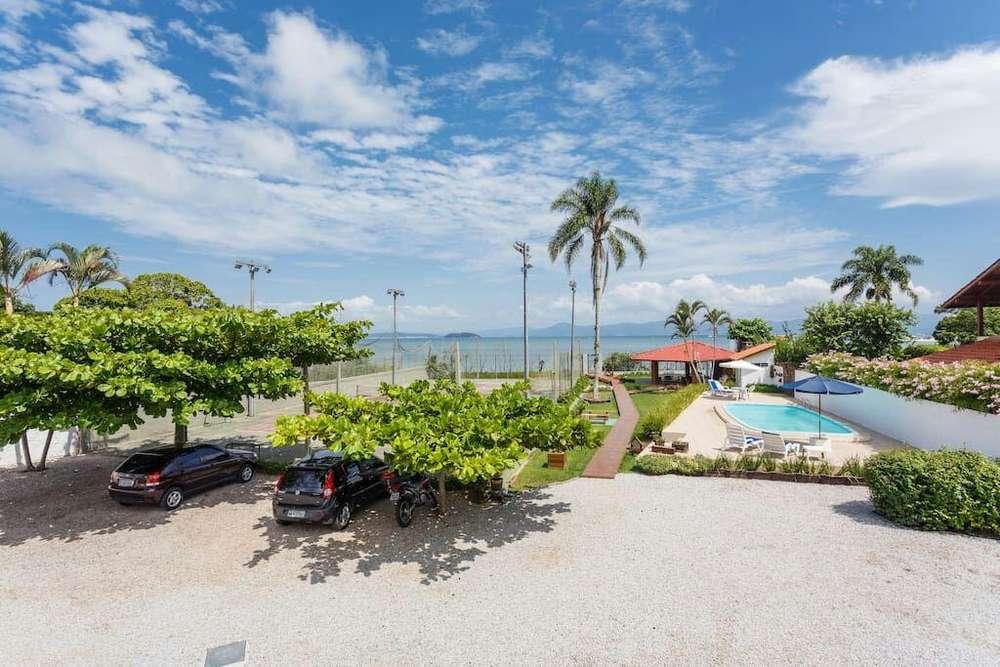 depto 5 personas en florianopolis, complejo cerrado, piscina, salida al mar, quincho, estacionamiento, wifi