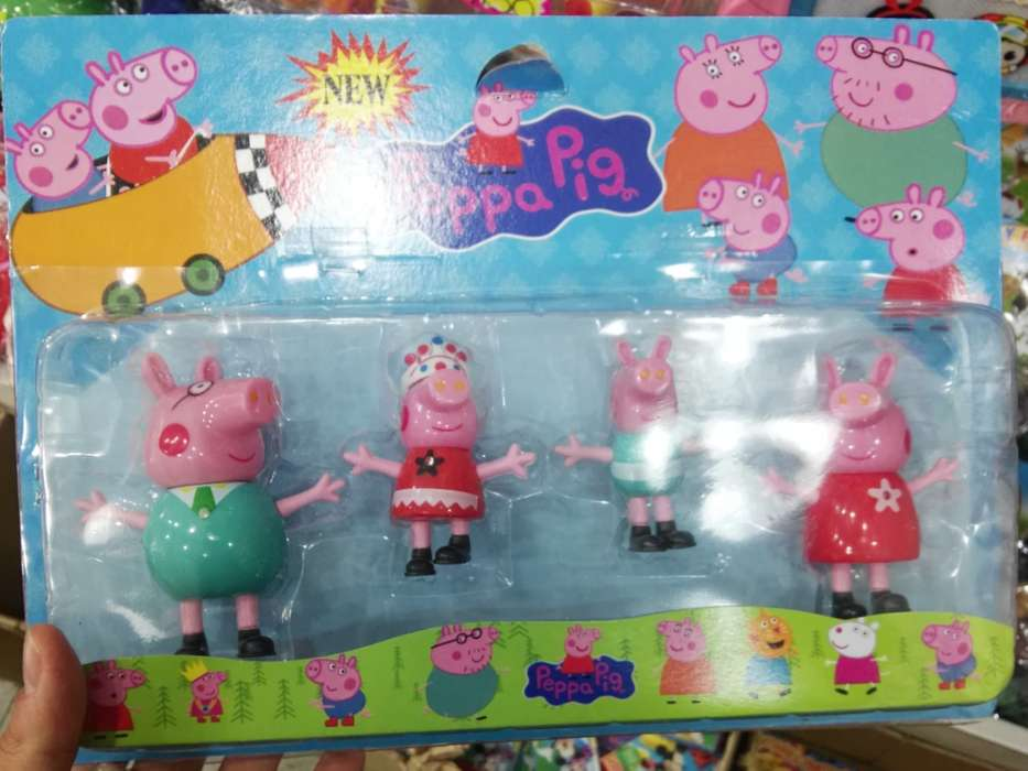 Peppa Pig Familia En Blister X 4 Figuras
