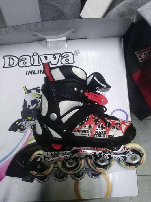 Rollers Daiwa extensibles 37-40 1uso.