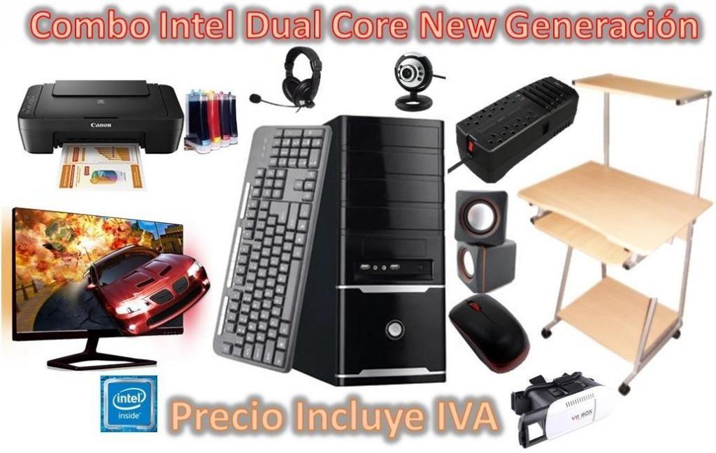 Computadora Cpu Completo Intel Dual Core 2tb 4gb, I3 i5 i7 PRECIO INCLUYE IVA ENTREGA A DOMICILIO