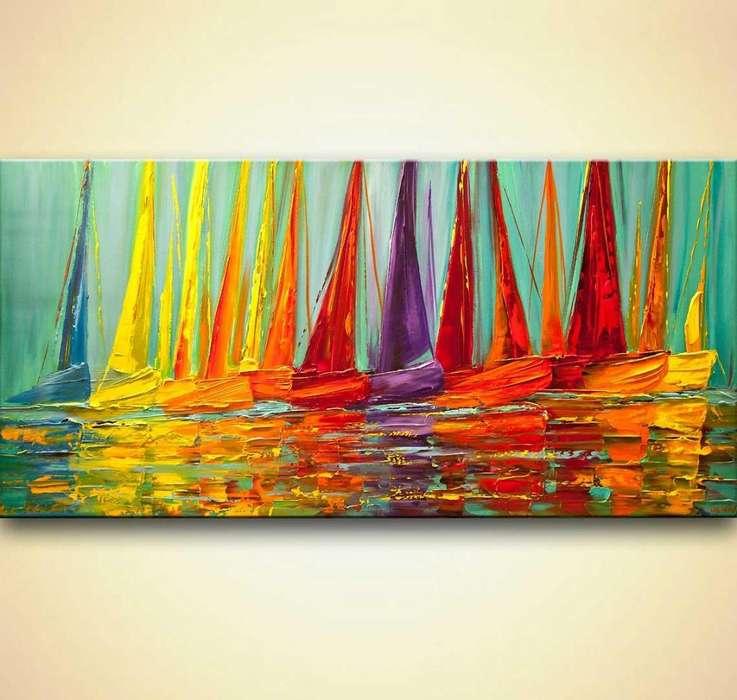 cuadro de veleros abstractos 9755