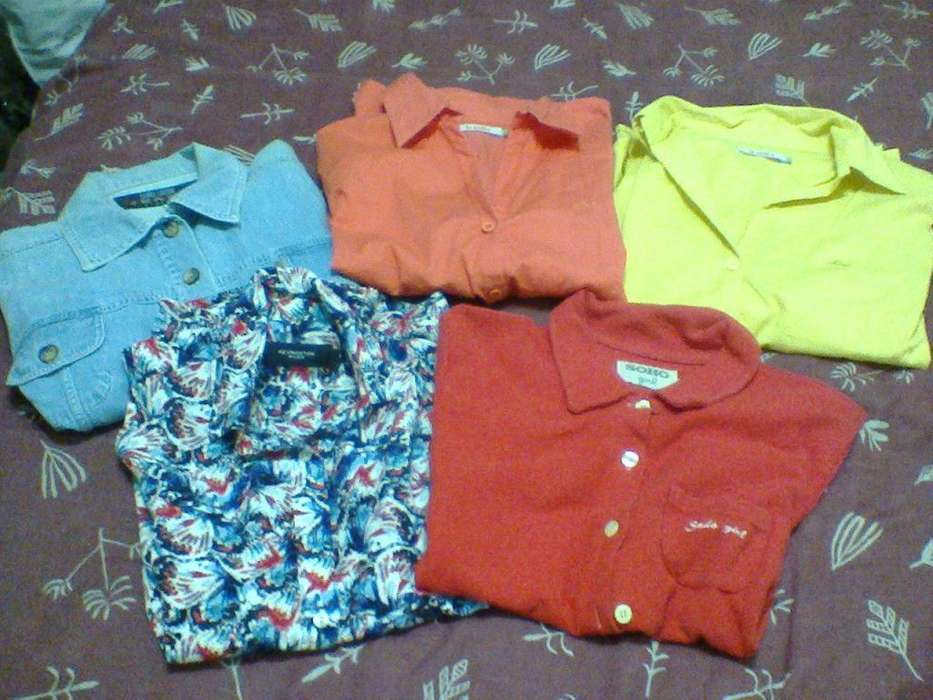 Lote 5 Camisas de <strong>mujer</strong>! De Marca! Liquido!!! Usadas!