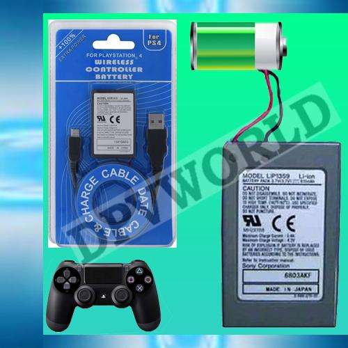Bateria Control Ps4 Playstation 4 Dualshock Sixaxis Cable