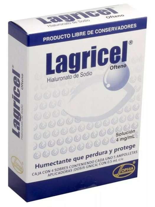 Lagricel Ofteno Solución Oftálmica Al 0.