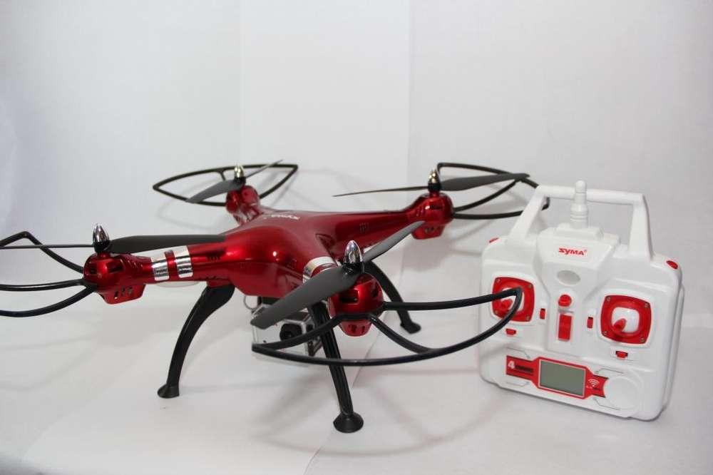 Drone Syma X8hg Rojo Cámara 8mp Hd Y Control De Altura Gangazo