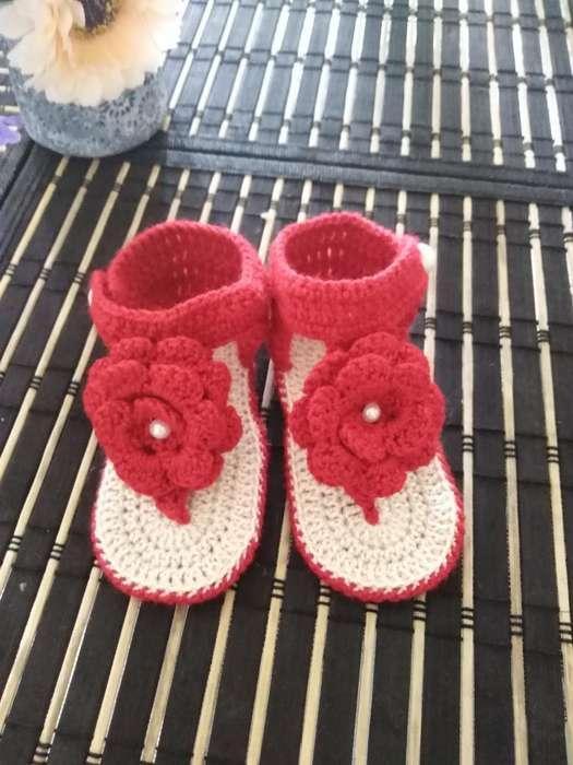 Zapatos de Bebe a Crochet