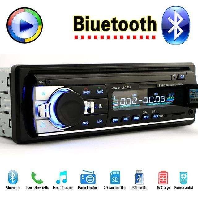 radio bluetooth fija para carro pendrive usb micro sd fm aux precio oferta 19