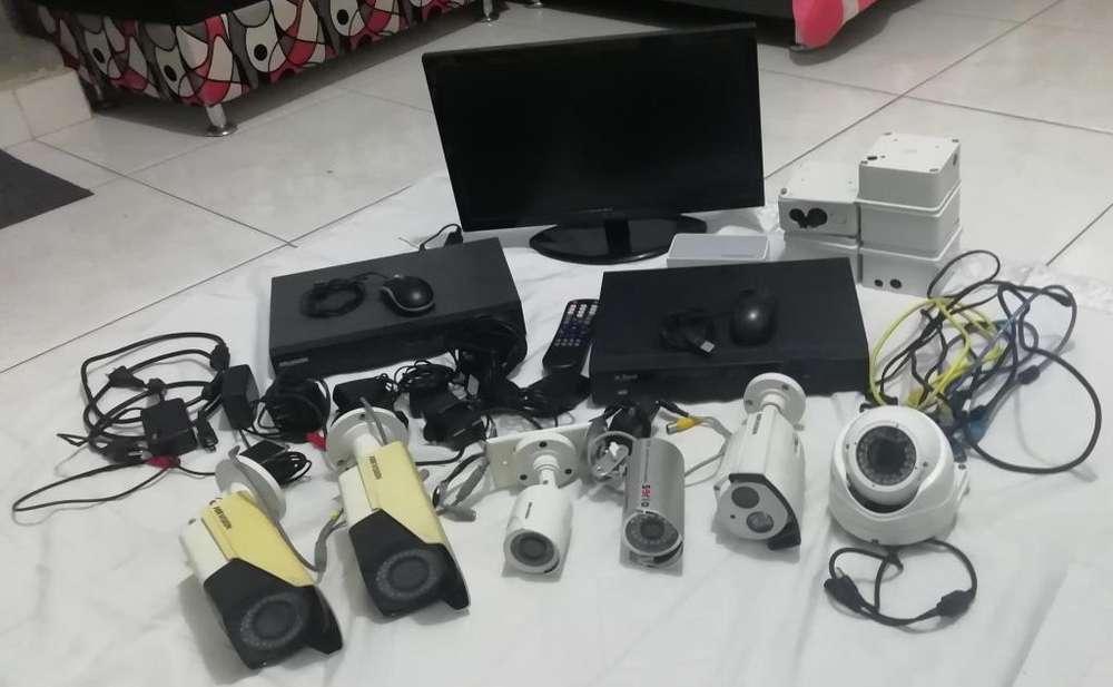 Se vende montaje de cmaras de vigilancia listas para instalar