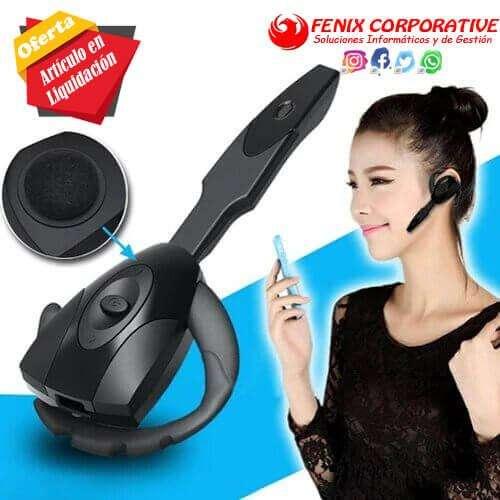 Manos libres inalámbrica Bluetooth 3,0 auricular del juego negro auricular