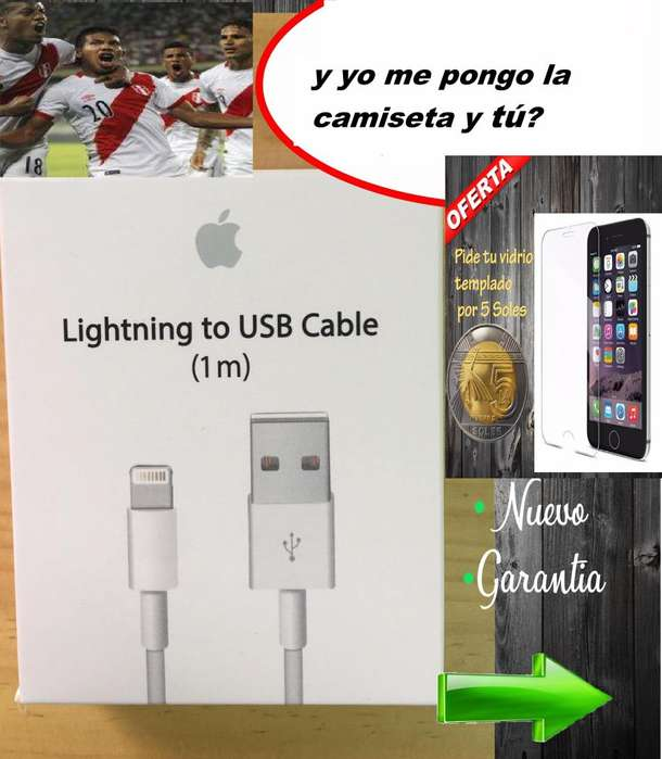 Cable iPhone Lightning X 8 7 6S 5S 5 Plus Ipad Air NUEVO Sellado
