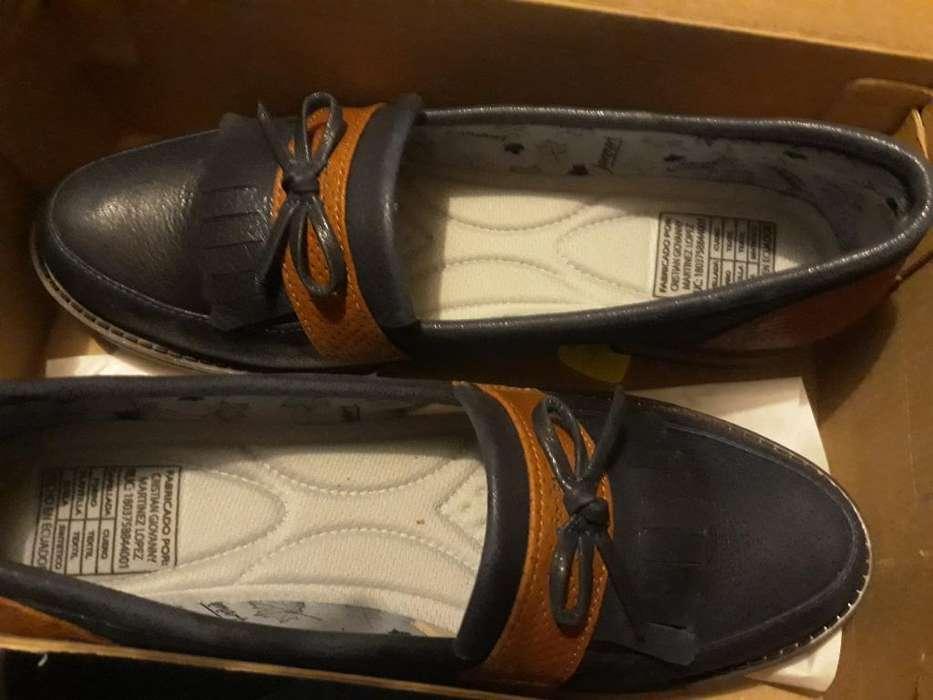 Hermosos Zapatos Cuero Talla 39