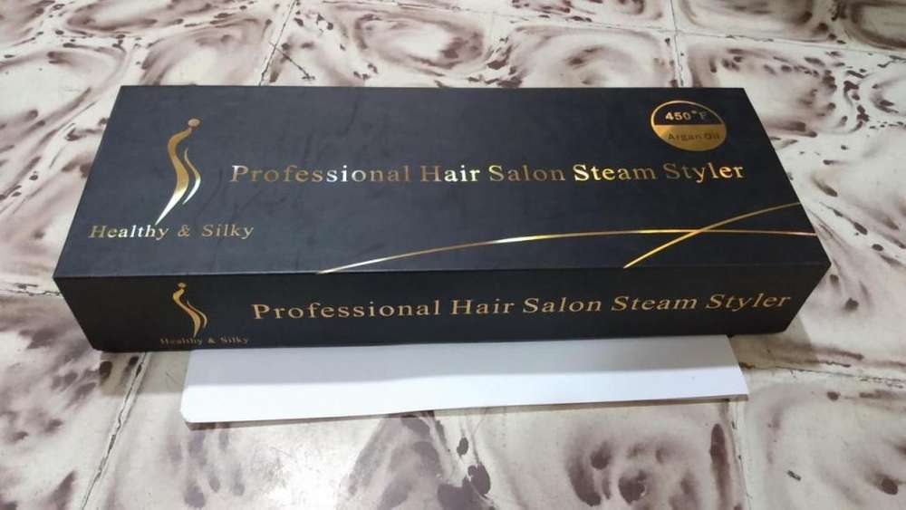 VENDO PLANCHA PROFESSIONAL HAIR SALON STEAM STYLER ARGAN OIL