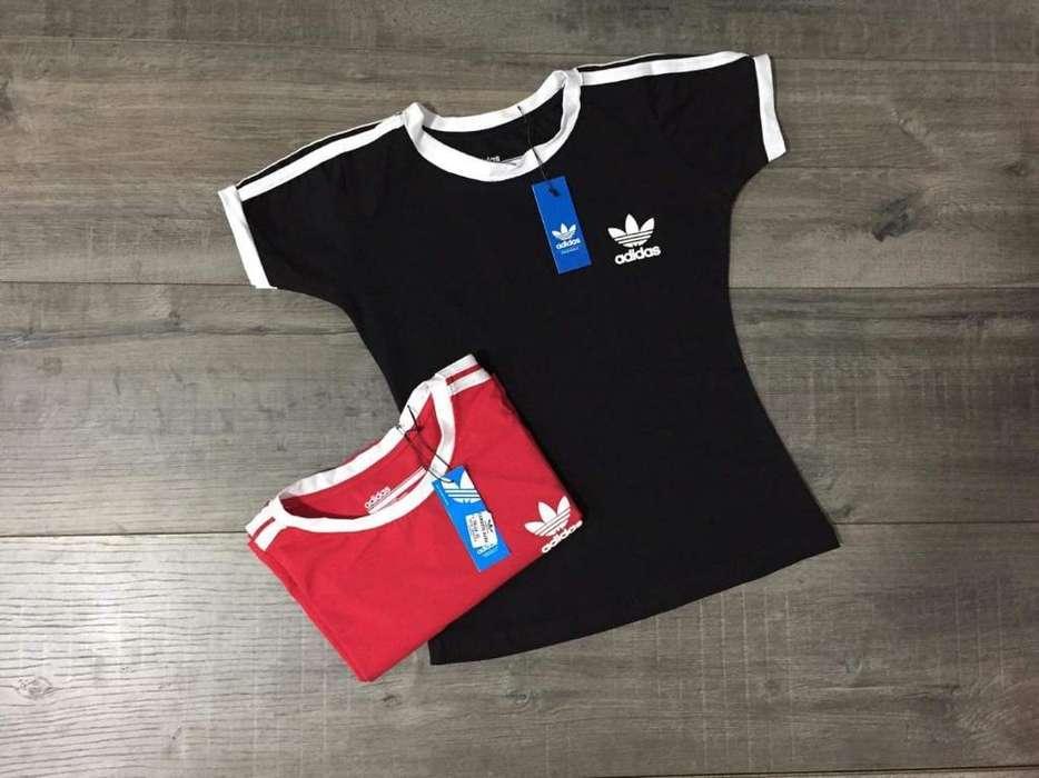 Camisetas Adidas Dama