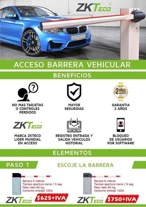 Acceso Vehicular. Barras. Palancas. ZKTECO. Control de acceso vehicular. Inbio. Barreras Behiculares.