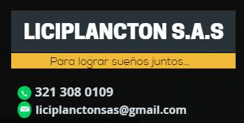 LICIPLANCTON S.A.S