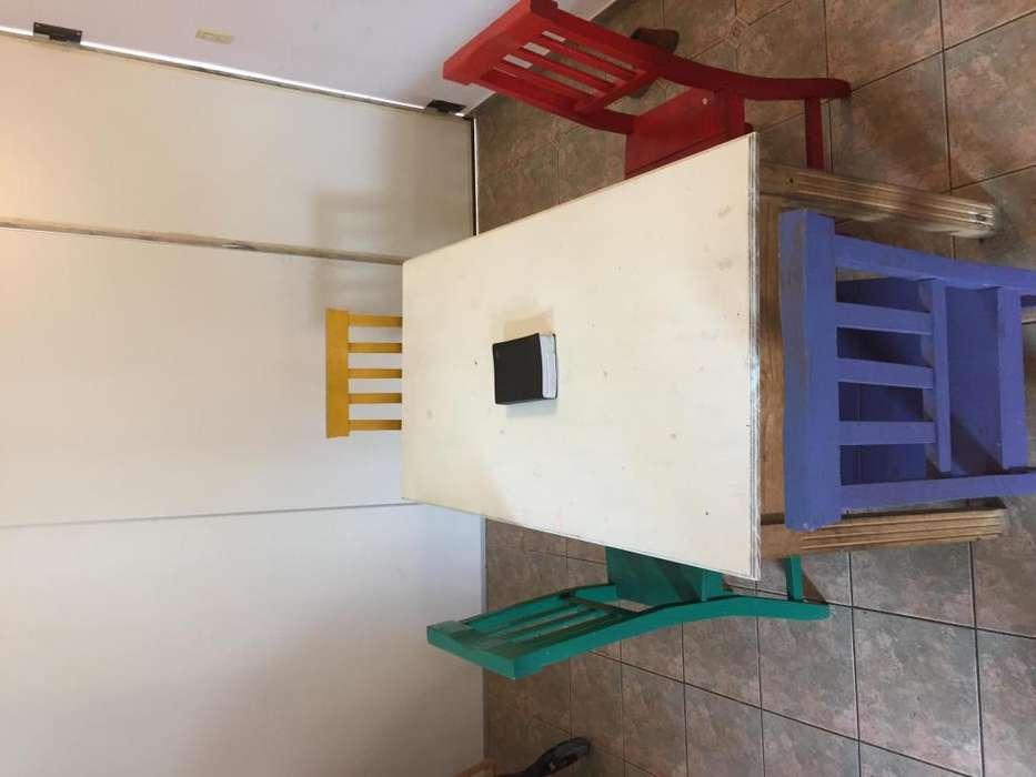 Mesa 1,60 con 4 <strong>silla</strong>s Muebles de Campo