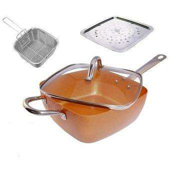 Envio Gratis Sarten Copper Cocinar Hornear Freir Saltear Vapor Accesorios