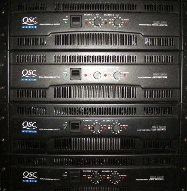 4 <strong>amplificadores</strong> Qsc Rmx 5050