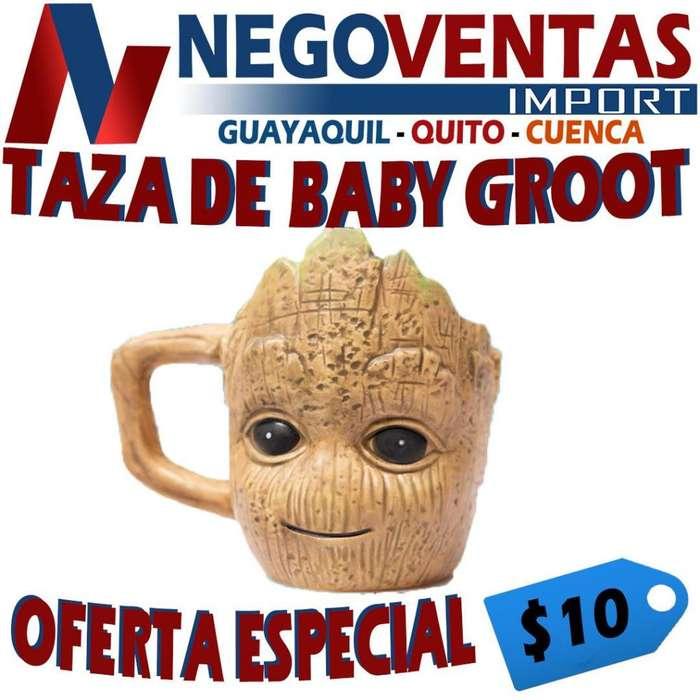 TAZA ESCULPIDA DE BABY GROOT