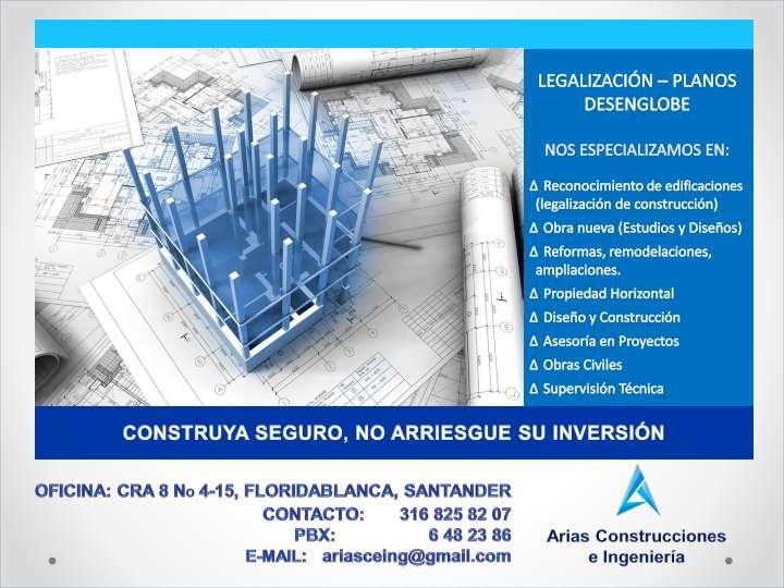 Diseño y Construcción, Licencias de Construcción, Propiedad Horizontal, Obras Civiles, Asesoría en Proyectos.