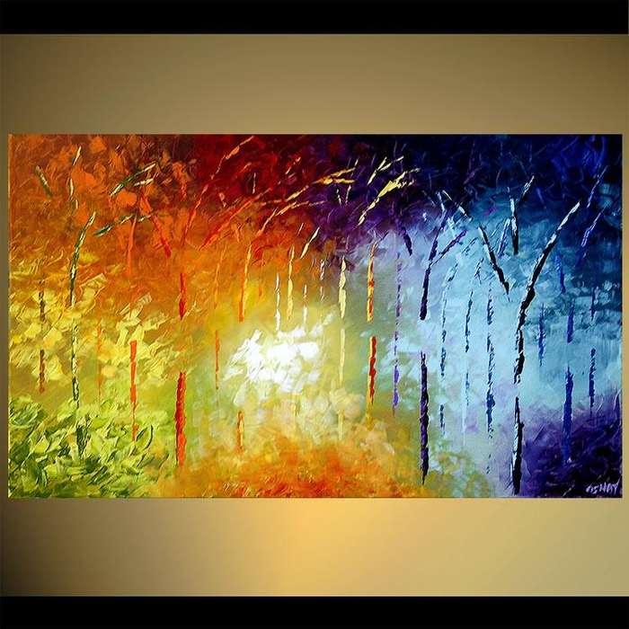 Obra de bosque abstracta 9754