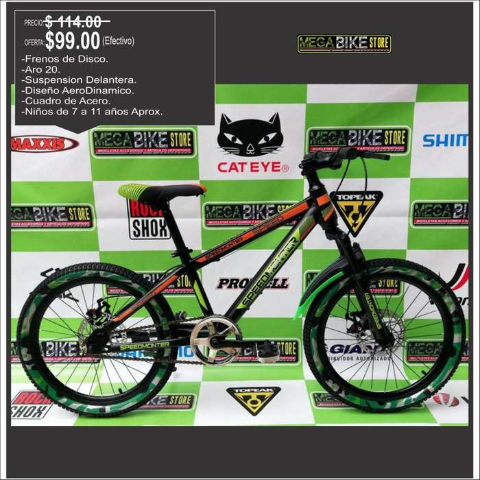 VENTA bicicletas para niños aro 20 tipo montañera con frenos de disco y suspension modelo moderno