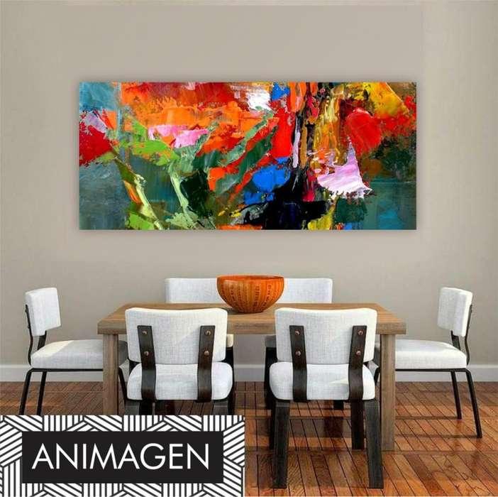 cuadro abstracto super colorido 9676