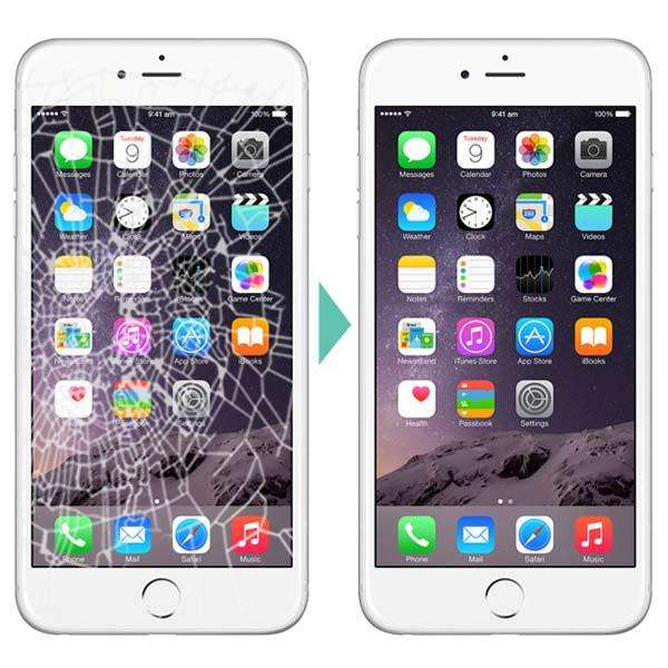 cambio de glass iphone 5s 6 6s 7 plus 8 8 plus luna vidrio