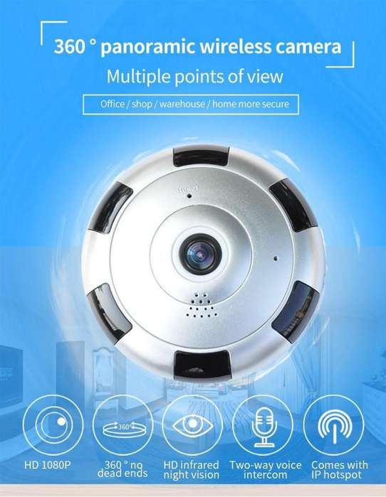 1080P de resolución para que lo veas todo a su alrededor Wifi