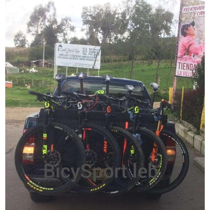Porta bicicleta protector para camioneta pickup soporte BicySport Leb